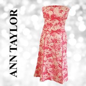 NWT ANN TAYLOR Strapless Floral Dress A0004.5